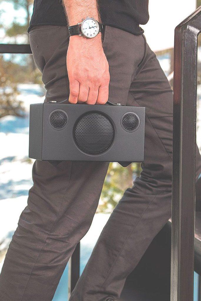 wireless multiroom speaker addon c3 black works with alexa audiopro 02a